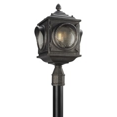 Troy Lighting Main Street Aged Pewter Post Light