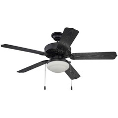 Craftmade Lighting Cove Harbor Matte Black Ceiling Fan with Light