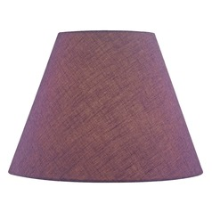 Purple Empire Fabric Lamp Shade with Spider Assembly