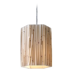 Elk Lighting Modern Organics Polished Chrome LED Mini-Pendant Light with Hexagon Shade