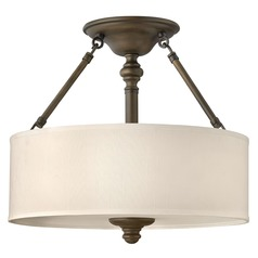 Semi-Flushmount Lights in English Bronze Finish