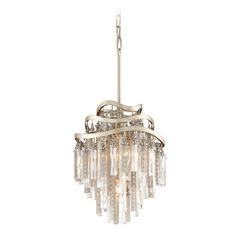 Corbett Lighting Chimera Tranquility Silver Leaf Pendant Light