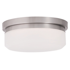 Livex Lighting Isis Brushed Nickel LED Flushmount Light