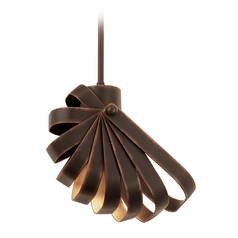 Kalco Lighting Brandt Antique Copper Mini-Pendant Light