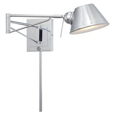 George Kovacs Chrome LED Swing Arm Lamp