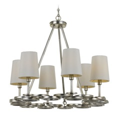 Crystorama Lighting Graham Antique Silver Chandelier