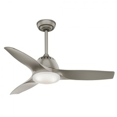 Casablanca Fan Co Wisp Pewter LED Ceiling Fan with Light