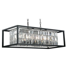 Catana Oil Rubbed Bronze Island Light with Rectangle Shade by Vaxcel Lighting