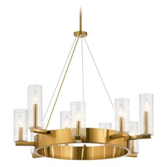 Kichler Lighting Cleara 9-Light Fox Gold Chandelier