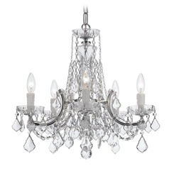 Crystorama Lighting Maria Theresa Polished Chrome Crystal Chandelier
