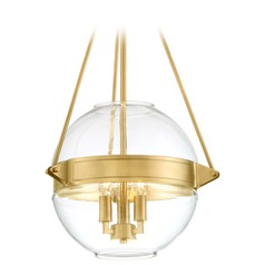 Minka Lavery Atrio Liberty Gold Pendant Light with Globe Shade