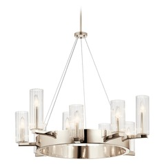 Kichler Lighting Cleara 9-Light Polished Nickel Chandelier