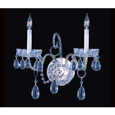 Crystal Sconce Wall Light in Polished Chrome Finish