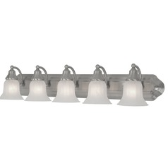 Design Classics Lighting Five-Light Bathroom Vanity Light 570-09