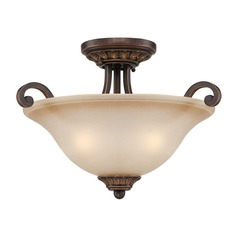 Craftmade Josephine Antique Bronze, Gold Accents Semi-Flushmount Light