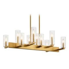 Kichler Lighting Cleara 10-Light Fox Gold Chandelier