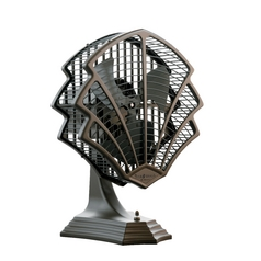 Art Deco Desk Table Top Fan in Bronze finish