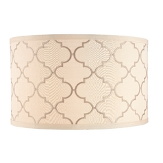 Cream Drum Lamp Shade with Marrakesh Pattern and Spider Assembly ...