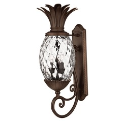 28-Inch Copper Bronze Pineapple Outdoor Wall Light
