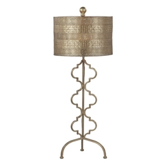 Table Lamp in Gold Leaf Finish