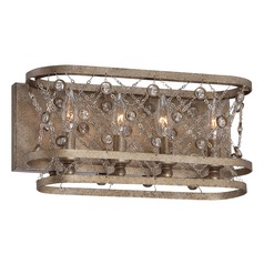 Metropolitan Vel Catena Arcadian Gold Bathroom Light