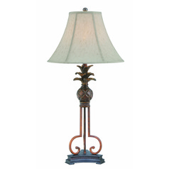 Lite Source Aloha Aged Bronze Table Lamp with Bell Shade