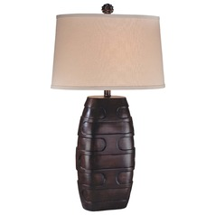 Minka Lavery Dark Brown Table Lamp with Oval Shade