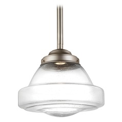Feiss Lighting Alcott Satin Nickel LED Pendant Light