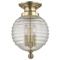 Coolidge 3 Light Flushmount Light - Aged Brass