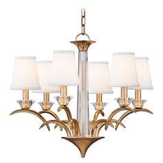 Hudson Valley Lighting Marcellus Aged Brass Chandelier