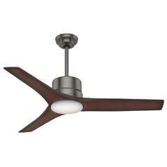 Casablanca Fan Co Piston Brushed Slate LED Ceiling Fan with Light