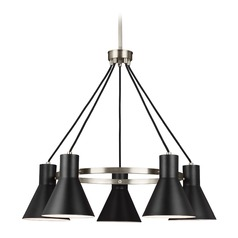 Sea Gull Lighting Towner Brushed Nickel Chandelier