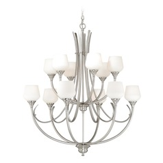 Grafton Satin Nickel Chandelier by Vaxcel Lighting