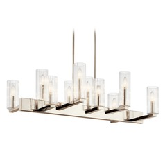 Kichler Lighting Cleara 10-Light Polished Nickel Chandelier