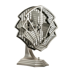 Fanimation Fans Art Deco Table Top Fan in Satin Nickel Finish OF6320SN