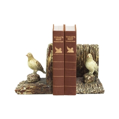 Sterling Lighting Woodland Birds Decorative Bookends 93-9214