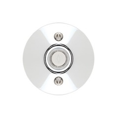 Emtek Hardware Polished Chrome Doorbell Button