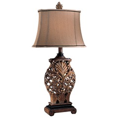 Minka Antique Gold Table Lamp with Oval Shade