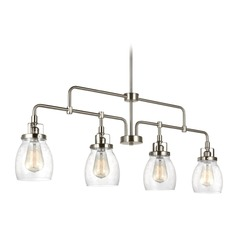 Seeded Glass Island Light Brushed Nickel Sea Gull Lighting