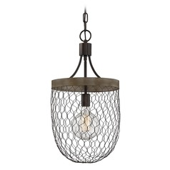 Farmhouse Light Chicken Wire Pendant Light by Quoizel Lighting