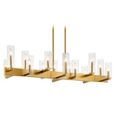 Kichler Lighting Cleara 14-Light Fox Gold Chandelier