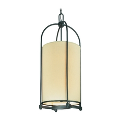 Pendant Light with Beige / Cream Shades in Federal Bronze Finish