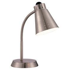 Satco Energy Efficient Nickel Clamp Desk Lamp