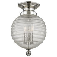 Coolidge 3 Light Flushmount Light - Polished Nickel