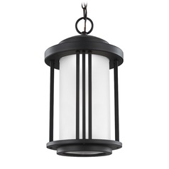 Sea Gull Crowell Black LED Outdoor Hanging Light