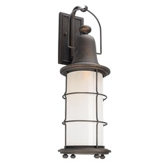 Troy Lighting Maritime Vintage Bronze LED Outdoor Wall Light