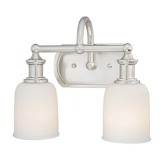 Elliot Polished Nickel Bathroom Light by Vaxcel Lighting