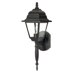 Nuvo Lighting Briton Textured Black Outdoor Wall Light