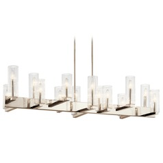 Kichler Lighting Cleara 14-Light Polished Nickel Chandelier