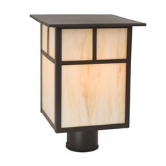Craftsman Style LED Post Light 13.75 Inches Tall